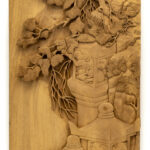 """Cliffside Monkeys"" Studio Carving, David Alan Original Design"