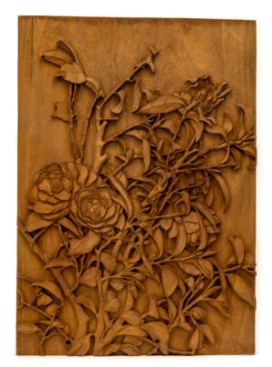 """Roses"" Studio Carving, David Alan Original Design"