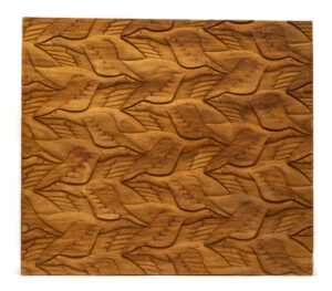 """Bird Pattern"" Studio Carving, David Alan Original Design"