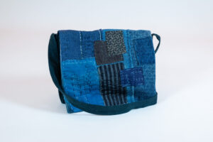 David Alan Designs Satchel of Vintage Indigo Boro Cloth