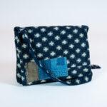 David Alan Designs Satchel of Vintage Indigo Boro Cloth
