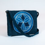 David Alan Designs Satchel with Vintage Indigo Crest