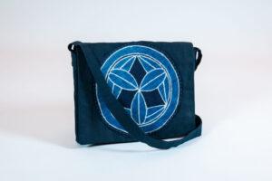 David Alan Designs Satchel with Vintage Indigo Crest