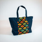 David Alan Designs Tote Bag of Vintage Kimono Fabric.