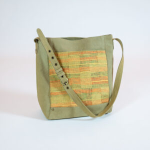 David Alan Designs Shoulder Strap Tote Bag of Vintage Kimono Fabric