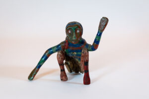 Hand Carved and Painted Folk Art Monkey