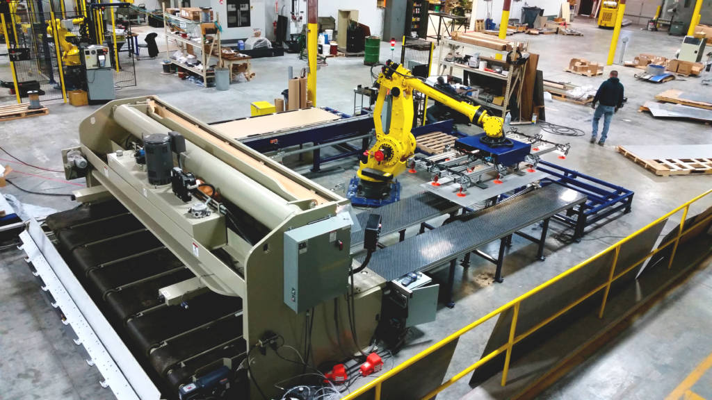 automation brake press tending, automated, robot, robotic