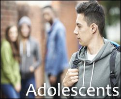 Adolescents page button