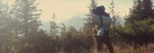 Backpacker alone