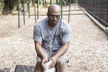 Adult male in despair