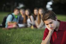 Male teen bullied
