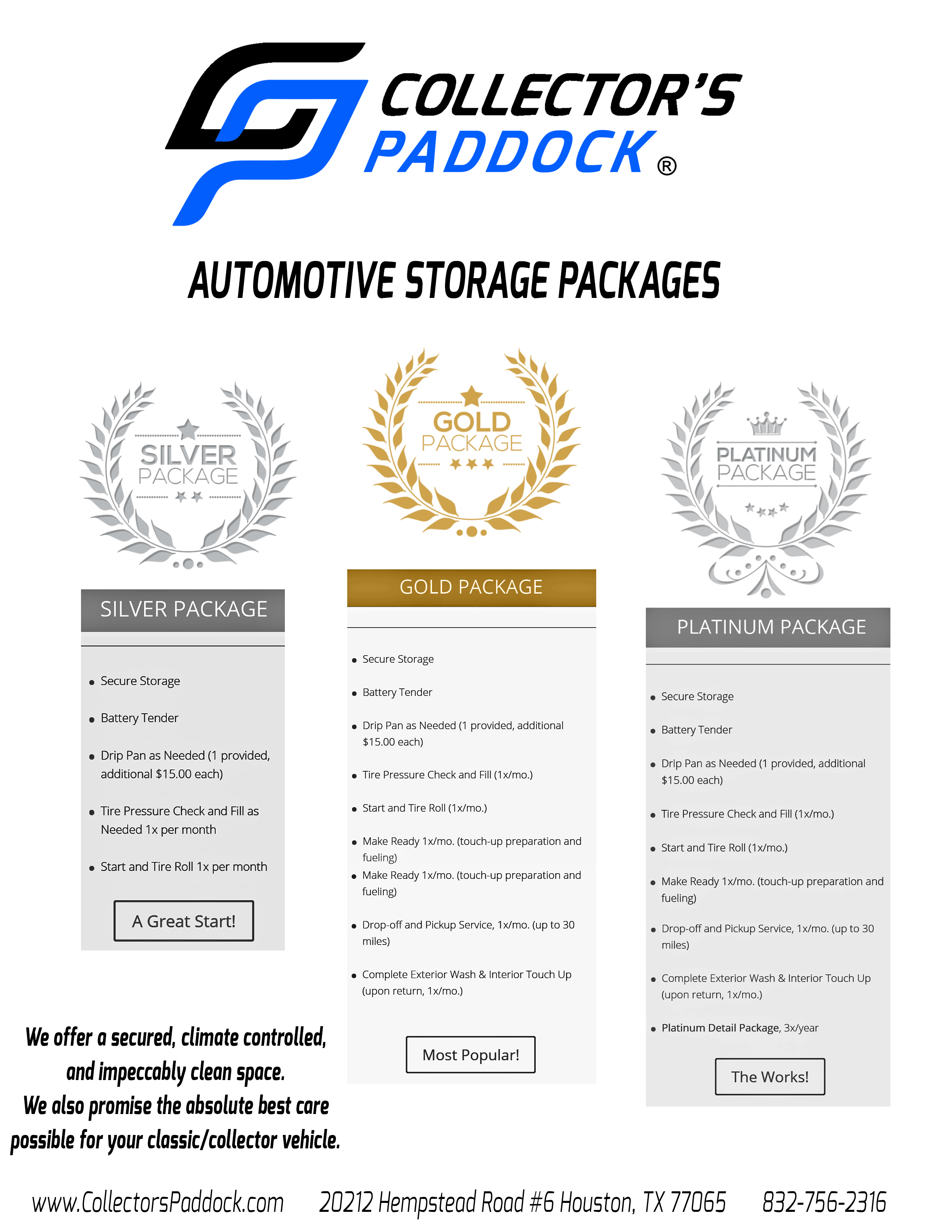 Storage Package No Price
