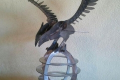 Metal-Eagle-with-globe-RAW Metal Works