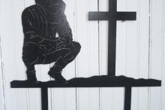 2Praying-Metal-Cowboy-with-cross-RAW Metal Works