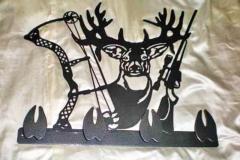 Deer-Hunting-Metal-Sign-RAW Metal Works
