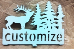 Deer-with-trees-sign-RAW Metal Works