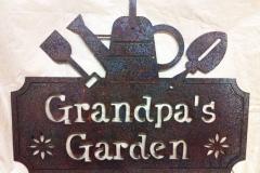 Metal-Grandpas-Garden-sign-RAW Metal Works