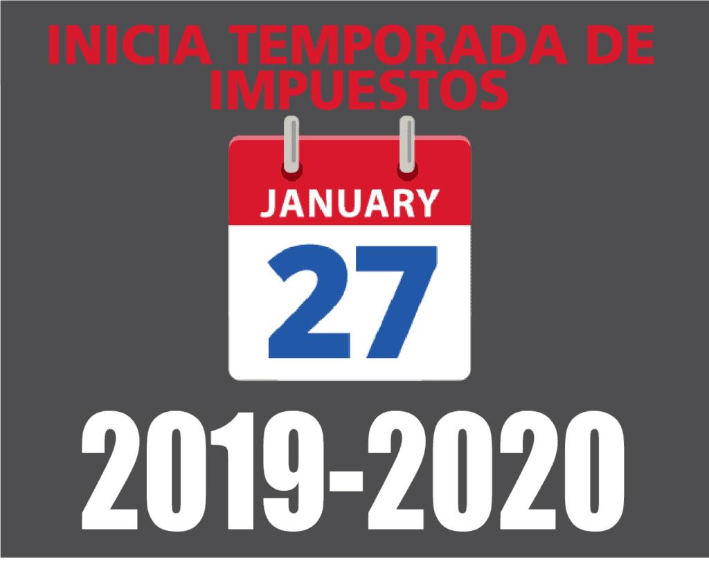 INICIA TEMPORADA DE IMPUESTOS 2020