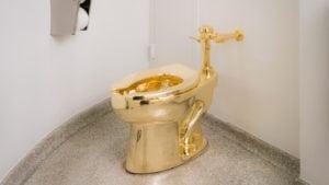 Solid Golden Toilet