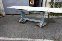 Antique French Table with Provence Blue legs