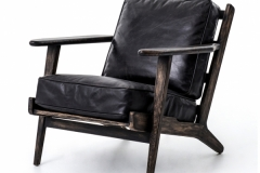 60s Armchair Leather H29%22xW27%223:4xD34%223:4