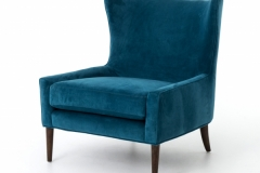 Armchair peacock soft velvet