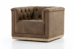 Swivel Armchair  Umber