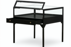 Side display table in black metal