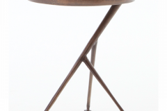 Tripod Table, Style & Elegance in Antique rust finish