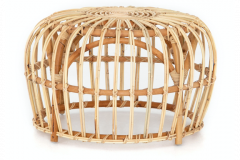 Natural rattan cross weaves for a stylish  mid-century look.