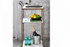 Bar Cart small with Marble trays
