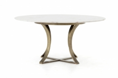 Cage Table White Marble Top
