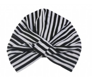 Magnolia Black & White Stripe Shower Cap