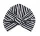 Magnolia Black & White Stripe Shower Cap
