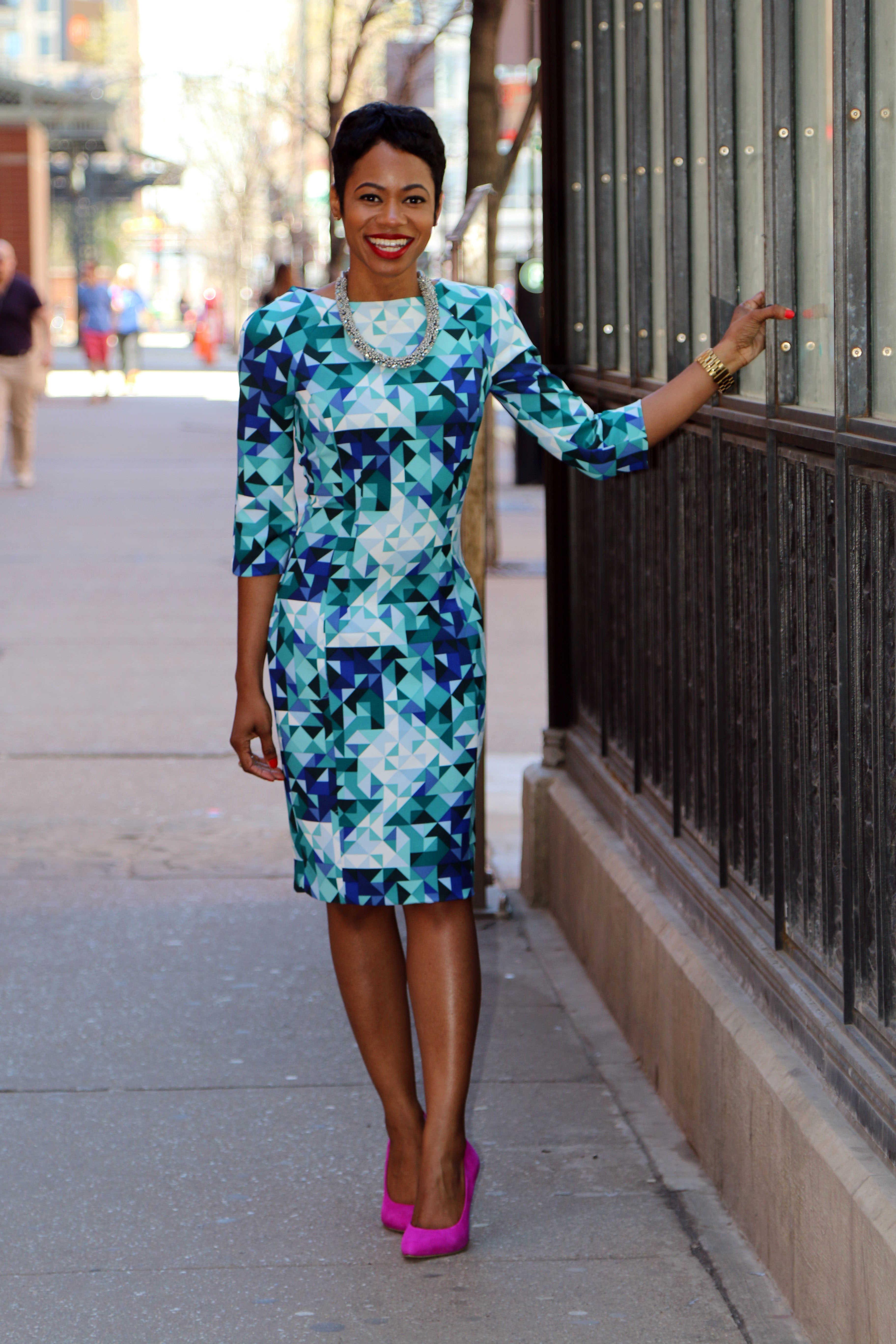 Blue Diamond Dress