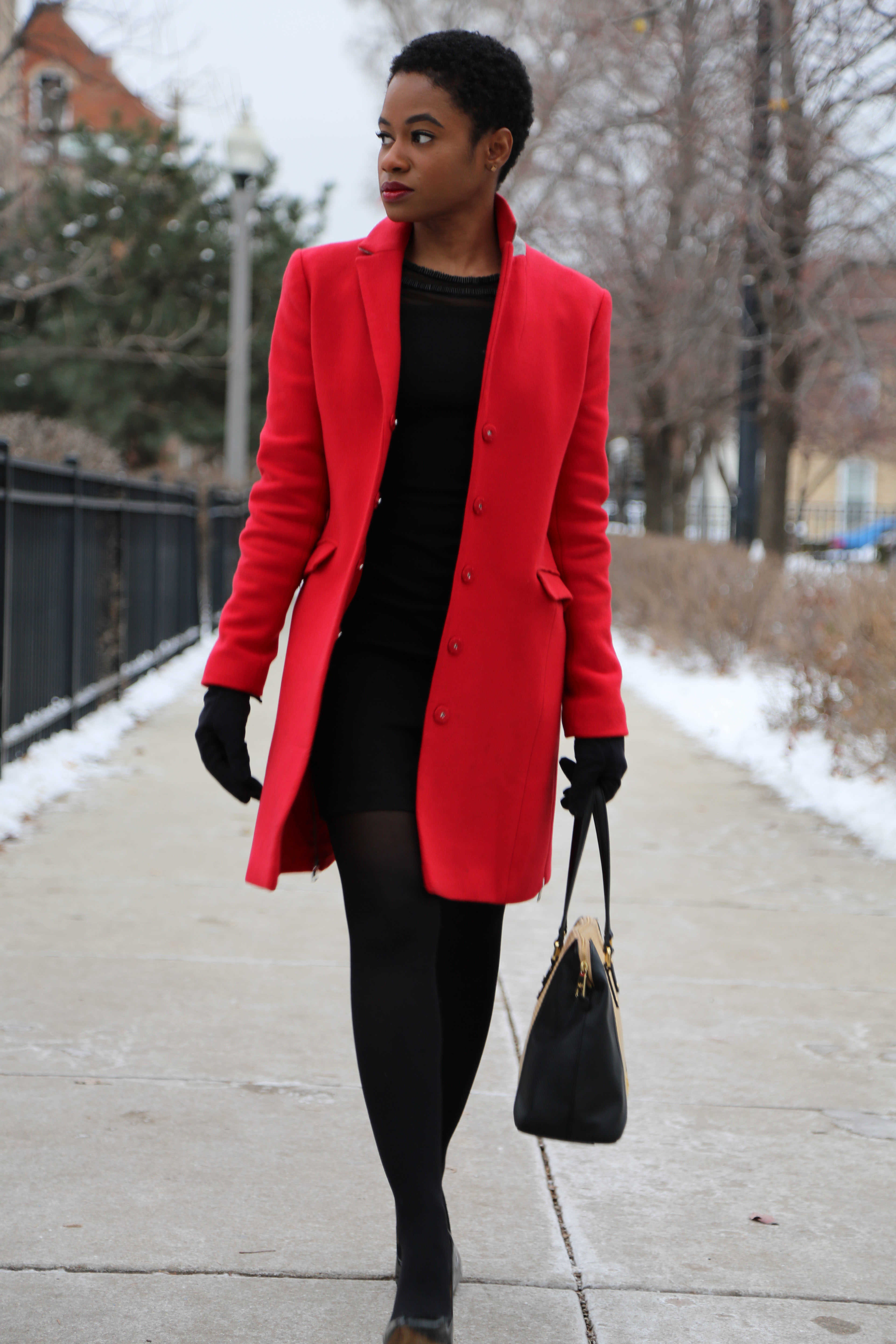 Red Armani Exchange Coat