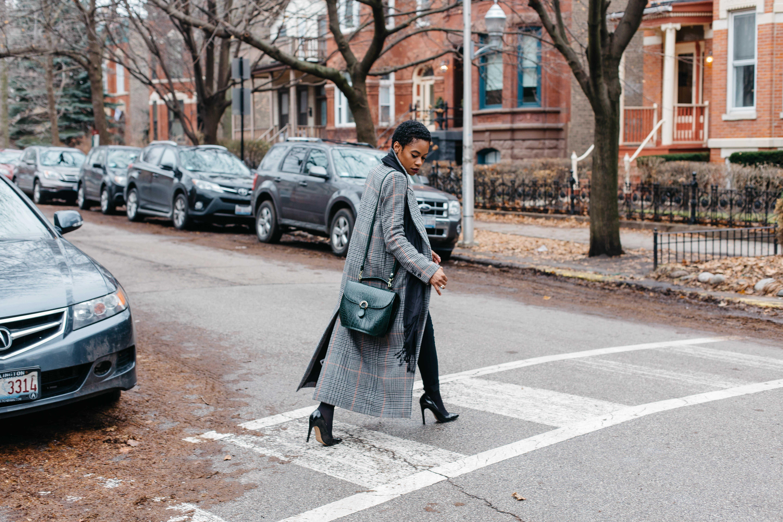 Long Striped H&M Coat
