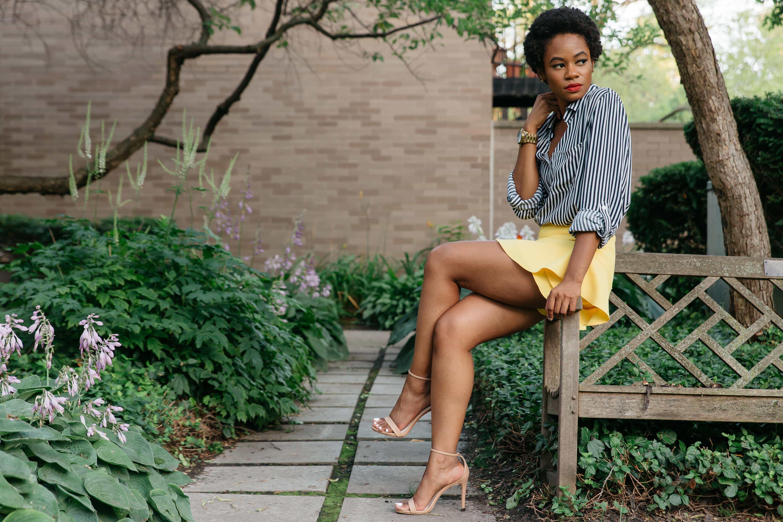 Zara Yellow Skirt and Marshalls Shirt