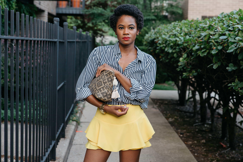 Zara Yellow Skort and Marshalls Shirt 1