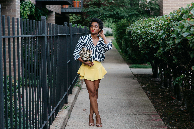 Zara Yellow Skort and Marshalls Shirt 3