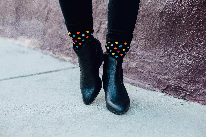 Happy Socks and ALDO Booties