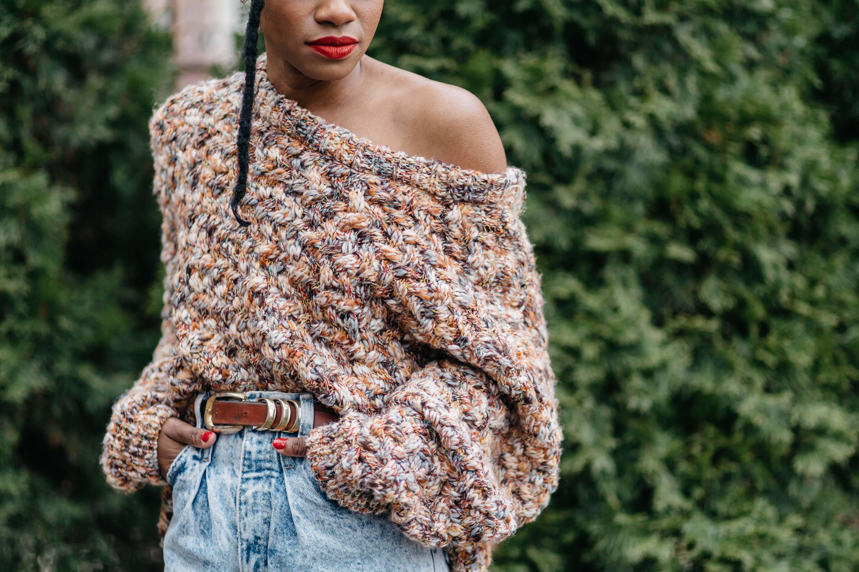 Chunky Sweater Acid Jeans 1