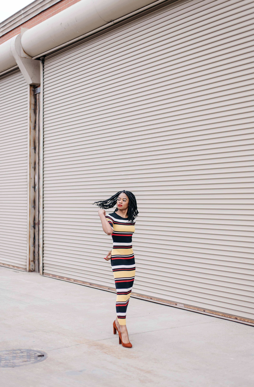 Striped Maxi Dress AKIRA 10