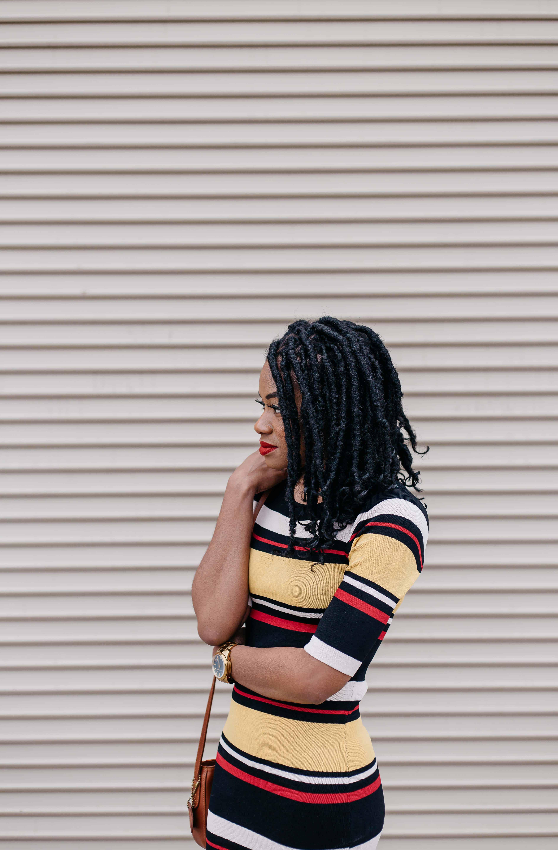 Striped Maxi Dress AKIRA 14