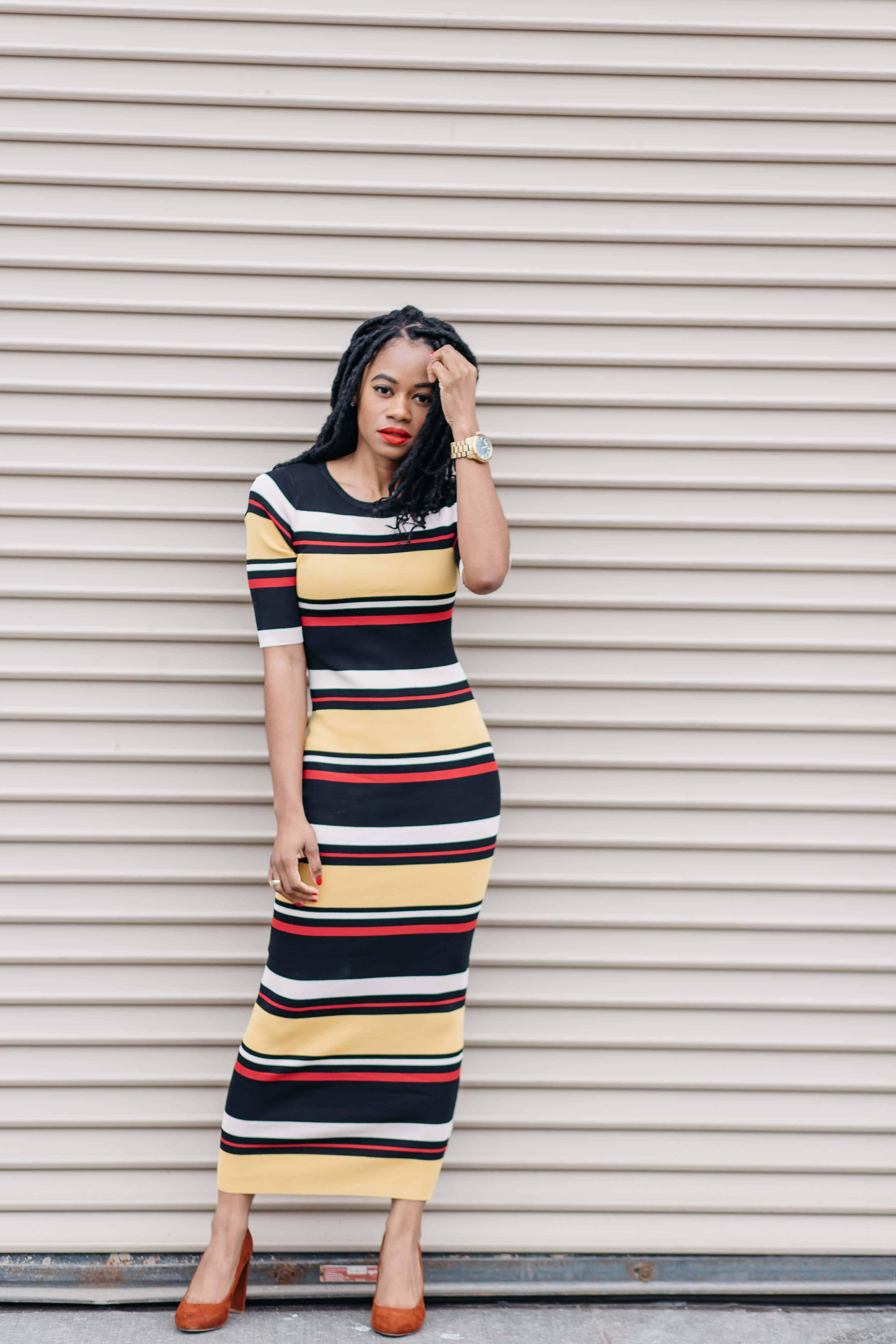 Striped Maxi Dress AKIRA 3