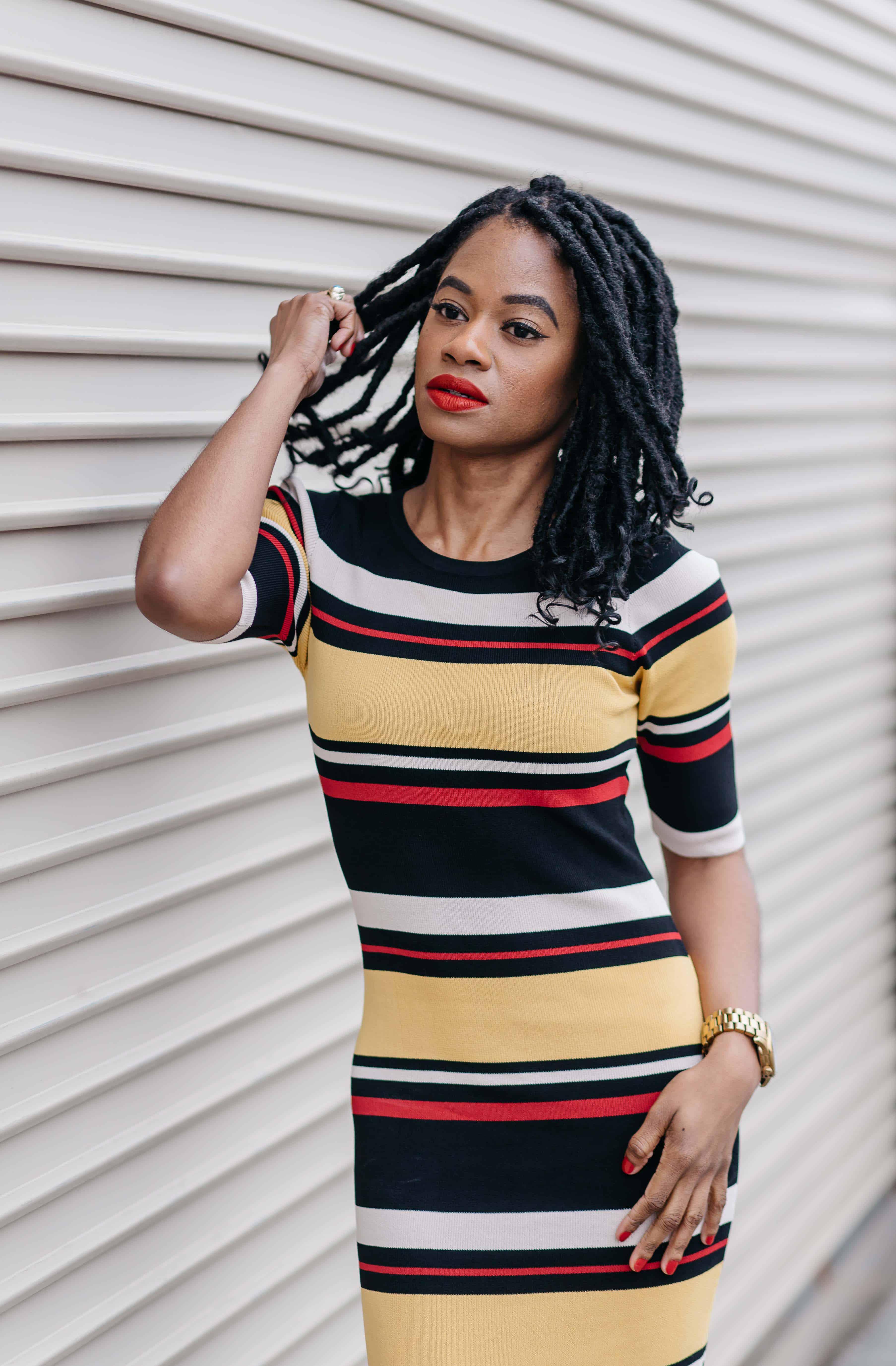Striped Maxi Dress AKIRA 4