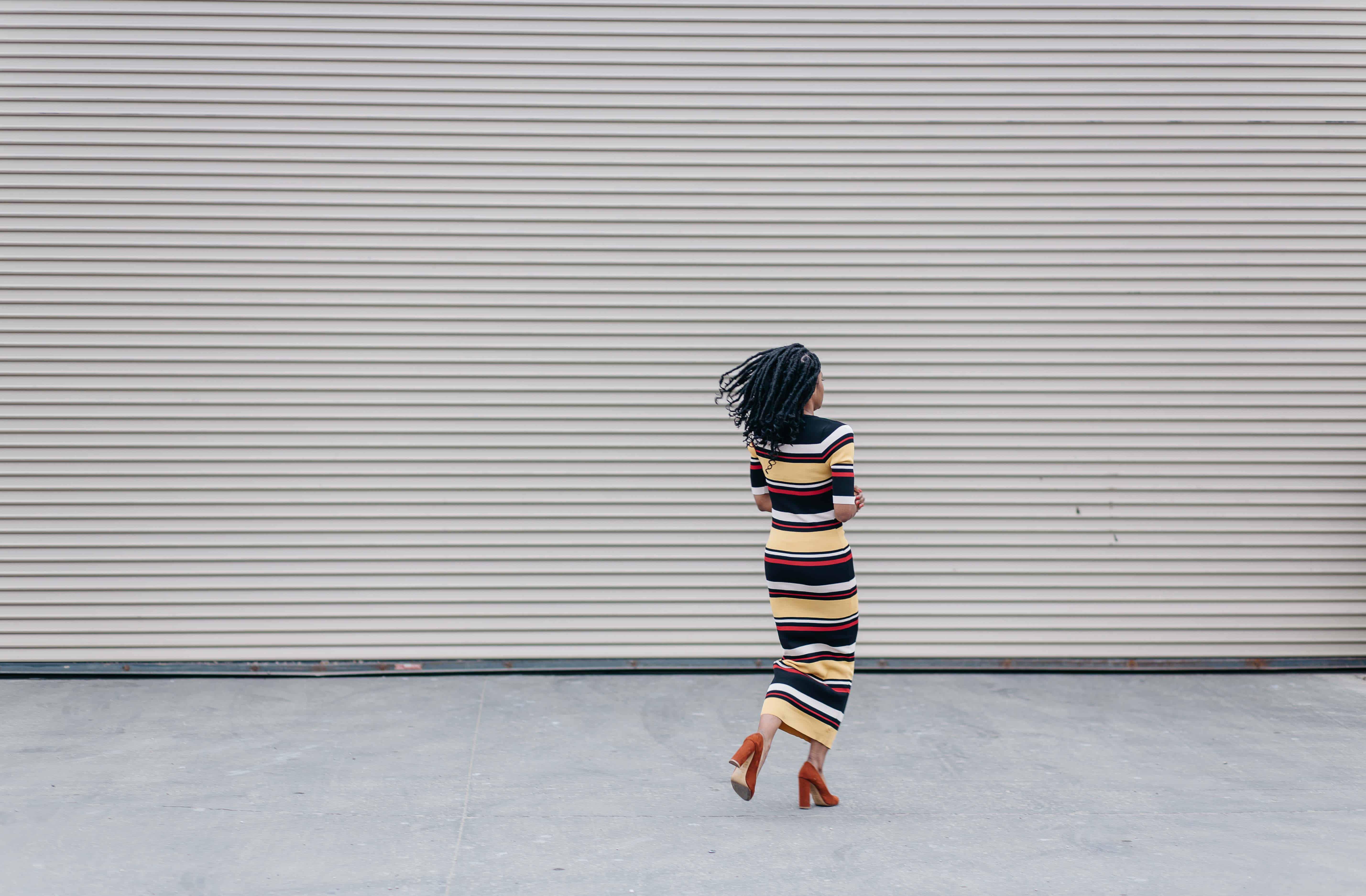 Striped Maxi Dress AKIRA 7