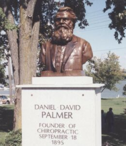 Daniel David Palmer, Founder of Chiropractic in 1895.