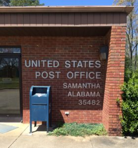 Samantha Post Office located on Northside Road