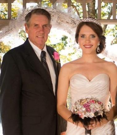 My Granddad, Floyd Hughes, Jr. And I at my wedding November 2013